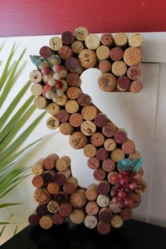 DIY Wine Cork Monogram