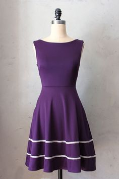 Coquette Dress in Plum - Fleet Collection, $68 FleetCollection.com