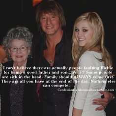 Richie Sambora, his mother and his Ava #strongfamilybond