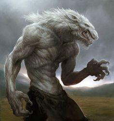 ArtStation - painting test a wolfman, seunghee lee Fantasy Rpg, Medieval Fantasy, Dark Fantasy, Mythological Creatures, Fantasy Creatures, Mythical Creatures, Bark At The Moon, Werewolf Art, Humanoid Creatures
