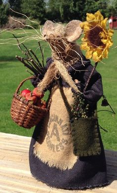 Old Woman of the Woods Primitive Mouse by buttermilkcreekfarm