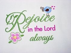 Rejoice - 5x7 | Words and Phrases | Machine Embroidery Designs | SWAKembroidery.com Oma's Place