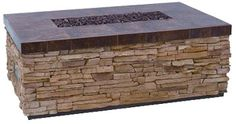 What more can you ask for  rectangular fire pit built in bench seating and planters on top of