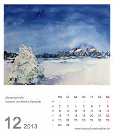 2013 calendar with our watercolors and pastels If you want to buy but a calendar for yourself or as a gift for a friend. More information can be found here http://frankkoebsch.wordpress.com/kalender-2013/