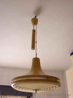 LAMPARA VINTAGE DE TECHO. ORIGINAL AÑOS 60-70