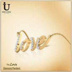 Buy Gold & Diamond Pendant for women!! Find great deals on IskiUski for Love Pendant at best prices!!.. #Pendants #DiamondPendants #IskiUski #Love #LovePendants