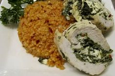 - This is a healthy baked chicken recipe with spinach and ricotta filling. These spinach-stuffed chicken breasts make an easy weeknight recipe or an impressive dinner for guests. Healthy Baked Chicken, Baked Chicken Recipes, Easy Weeknight Meals, Easy Meals, Spinach Recipes, Healthy Recipes, Ricotta Stuffed Chicken, Cooking Tomatoes, Spinach And Cheese