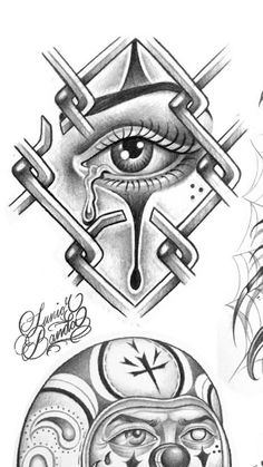 Chicano Tattoos Sleeve, Half Sleeve Tattoos Drawings, Chicano Style Tattoo, Men Tattoos, Tattoo Design Drawings, Tattoo Sketches, Tattoo Designs, Graffiti Tattoo, Graffiti Drawing