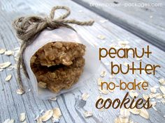 brown paper packages: {peanut butter no-bake cookies}