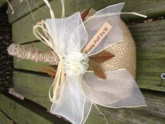 Smaller burlap pumpkin