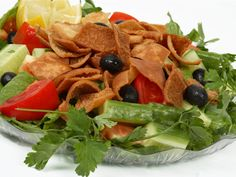 Tuna Fattoush Salad