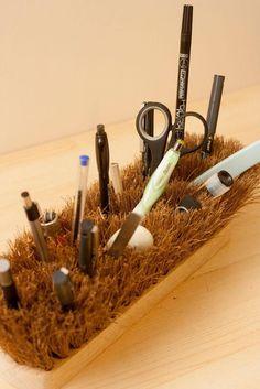Diy back to school : DIY Old Brush Pencil Pot