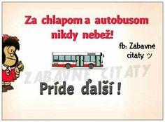 Za chlapem a autobusem nikdy neběhej! Funny Memes, Jokes, Carpe Diem, Unicorns, Humor, Husky Jokes, Humour, Memes, A Unicorn