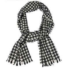 Pure Cashmere Houndstooth Scarf $49