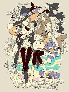 anime halloween boy pokemon trick treat pastel wolf witch wizard game kawaii cosplay cat zerochan manga candy team