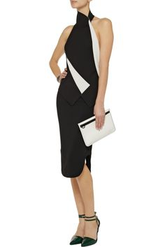 Bendals two-tone jersey top by Roland Mouret