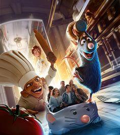 Ratatouille land revealed for Disneyland Paris, ride and restaurant to open Summer 2014 at Walt Disney Studios Park Trips To Disneyland Paris, Parc Disneyland, Disney Fun, Disney Magic, Disney Parks, Disney Theme, Disney Word, Disney And Dreamworks, Cartoons