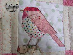 cute paper pieced bird