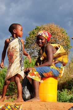 back from the bath - Mozambique, east Africa