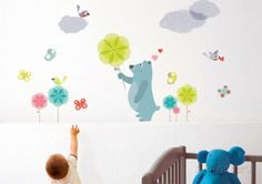 Blue Bear Kids Wall Decal at AllPosters.com