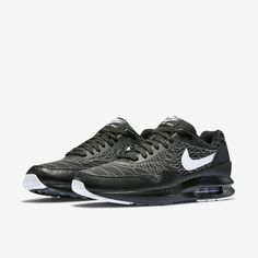 4a60448eb Nike Air Max 1 Lunar Jacquard Mens Black Lace Up Sneaker Trainers Shoes UK 9