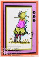 Little Witch Waiting, A Day for Daisies (Digi Stamp) Oct. 2015 New Release