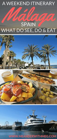 A weekend itinerary for Málaga, Spain with where to eat and what to do. | travel planning | Europe destinations | Travel tips | where to eat in Malaga | what to do in Málaga | Where to go in Spain | Spanish food | weekend break | itinerary | travel guide to Spain