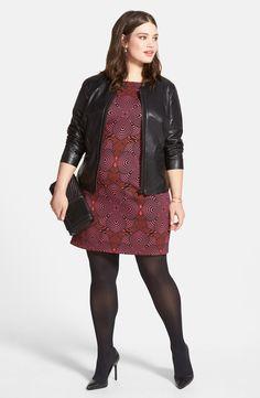 fdc452813ff Halogen® Leather Jacket   Taylor Dresses Sheath Dress (Plus Size)
