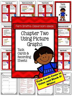 Using Picture Graphs Task Cards and Recording Sheet No Common Core {An additional Go Math resource for 3rd grade, Chapter 2.} #TPT #nocommoncore $Paid