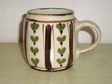 FROM: www.Klitgaarden.net Kähler (Herman A. Kähler) cup. H: 9 cm D: 9 cm from 1940-50s. Signed HAK. #kahler #ceramics #pottery #hak #cup #dansk #keramik #danish