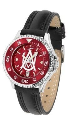 Alabama A&M Bulldogs Ladies Leather Wristwatch by SunTime. $78.95. Women. Water Resistant. Officially Licensed AAMU Bulldogs Ladies Leather Wristwatch. Adjustable Band. Poly/Leather Band. Alabama A&M Bulldogs Ladies Leather Wristwatch with AnoChrome face. The Bulldogs wrist watch has functional rotating bezel color-coordinated with team logo. A durable, long-lasting combination nylon/leather strap, together with a date calendar make this the ultimate watch to have. T...