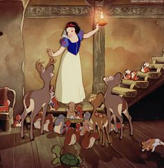 That moment in Snow White when you feel so bad for the turtle who finally makes it to the top of the stairs then falls down :(