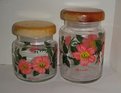 FRANCISCAN DESERT ROSE Glass Canisters by FranStoneVitrified