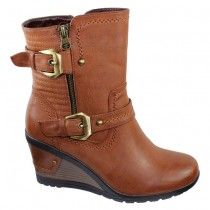 Redz - H1192 - Wedge Ankle Boot - Tan