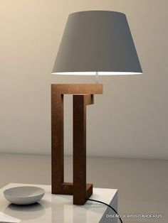 Getting The Perfect Table Lamp For Your Room – Beautiful Lamps Lamp Design, Wood Design, Lighting Design, Diy Floor Lamp, Wood Floor Lamp, Diy Lampe, Wall Clock Wooden, Cool Lamps, Rustic Lamps