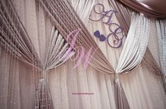 #Crystal and #Sparkle on #Backdrop #Decoration