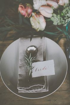 Botanical table setting - Image by James Melia - Bohemian Bride Inspired Wedding Shoot At The Arches Dean Clough Halifax With Rustic Wild Flowers And Delicious Food From Eat Me Drink Me With Images From James Melia Photographers