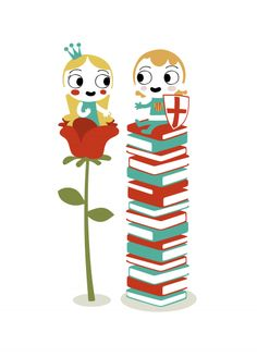 Sant Jordi, by Alex Roca Book Illustration, Illustrations, St Georges Day, Friday Im In Love, National Art, Saint George, I Love Reading, Tentacle, Book Lovers