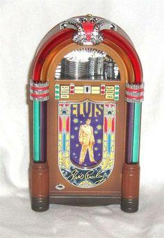vintage 1997 carlton cards elvis presley lights music jukebox ornament 2 songs