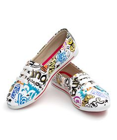 Another great find on #zulily! White Notebook Printed Lace-Up Sneaker #zulilyfinds
