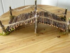 Handmade miniature garden twig footbridge 7 inches by CLOUDFAIRY Enchanted Garden, Fairy Garden Houses, Gnome Garden, Fairy Garden Pots, Garden Art, Herb Garden, Garden Design, Fairy Land, Gardening Websites