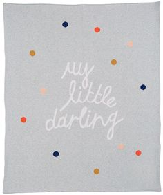 DARLING COTTON KNIT BABY THROW – Castle and Things