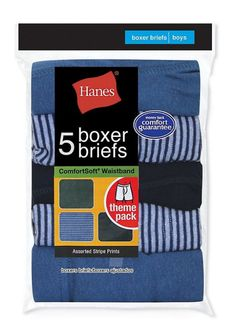 Hanes Boy's Red Label Stripe Boxer Brief XL-Assorted Stripes Boys Boxers, Traditional Fabric, Boys Underwear, Couple Tshirts, Fabric Tags, Boxer Briefs, Online Shopping Stores, Cute Shirts, Stripe Print
