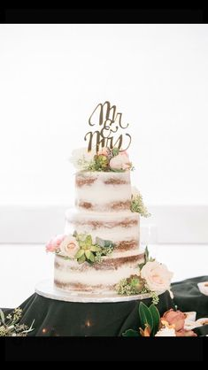 Beautiful naked cake with succulents