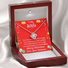 To My Wife Merry Christmas Love Knot Necklace