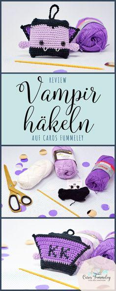 Vampir häkeln - deutsche Anleitung für ein Amigurumi - Test von Caros Fummeley mit Schachenmayr Catania Baumwollgarn #häkeln #amigurumi #diy