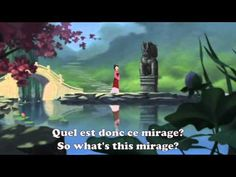 Song in French: Réflexion (Reflection) from Mulan. Has French lyrics and English translation of the French version. #French #Disney #song Check here for more French versions of Disney songs http://embracingadventure.com/2015/01/07/learning-music-videos-french-versions-disney-songs/
