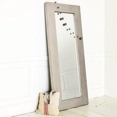 chunky wood floor mirror - love!