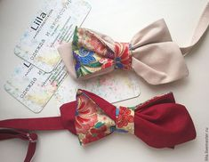Купить Галстук-бабочка Liila Русский стиль - галстук-бабочка, бабочка, бабочка на шею