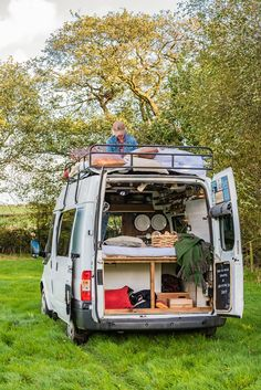 Feast your eyes on Dave. Every one of our vans was inspired by something; for Dave it was a pair of green French window shutters...